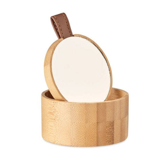 Bambusowe pudełko z lustrem