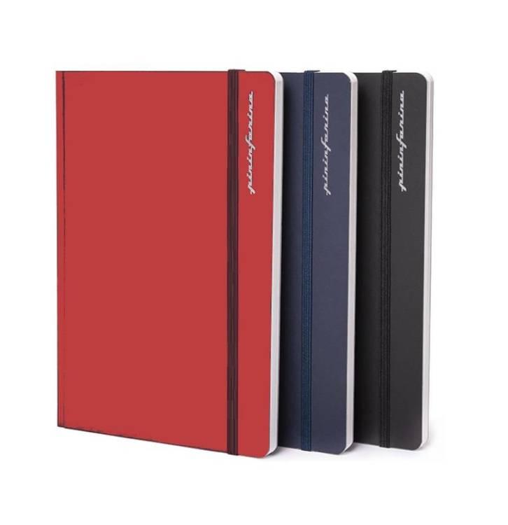 PININFARINA Segno Notebook Stone Paper, notes z kamienia, czerwona okładka, linie