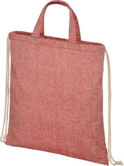 Plecak Pheebs z bawełnianym sznurkiem ściągającym z recyklingu o gramaturze 210 g/m²